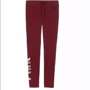 NEW: Victoria's Secret PINK COZY FLEECE Zip Pants